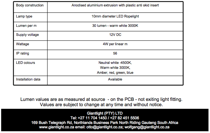 19 Step light specs